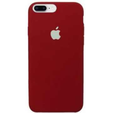 Чехол Silicone Case для iPhone 7 Plus Dark Red