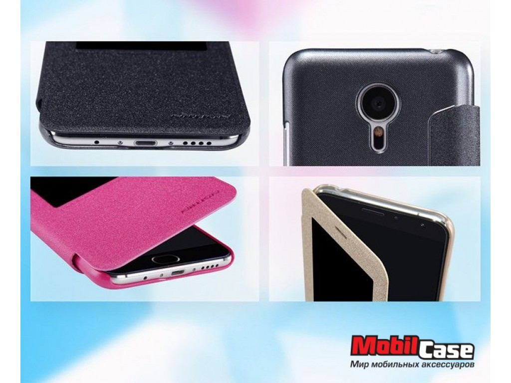 Чехол (книжка) для Meizu MX5 Nillkin Sparkle