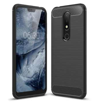 Бампер для Nokia 6.1 Plus Carbon