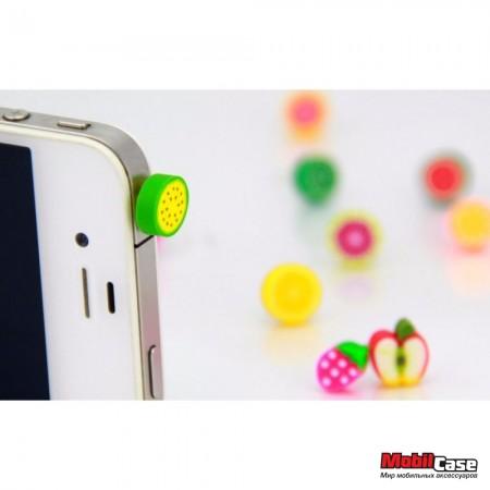 Заглушка для аудио порта 3,5мм Fruits
