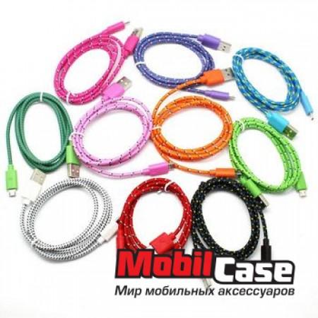 Дата кабель Micro USB плетеный