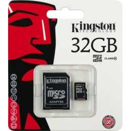 Карта памяти microSDHC 32 GB Class 10 UHS-I Kingston + адаптер