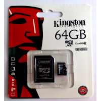 Карта памяти microSDXC 64 GB Class 10 Kingston