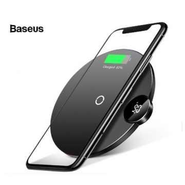 Беспроводное зарядное устройство Baseus Digital LED Display WXSX-01