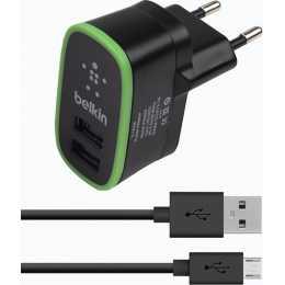 Сетевое зарядное устройство Belkin 2USB 2.1A + кабель microUSB