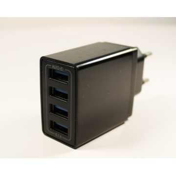 Сетевое зарядное устройство KE-F16c 4USB 5.1A + кабель MicroUSB