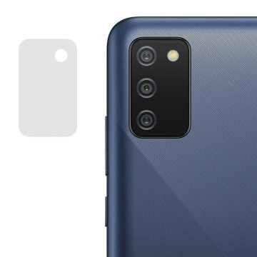 Стекло на камеру гибкое Samsung Galaxy A02s (A025) (Черное)