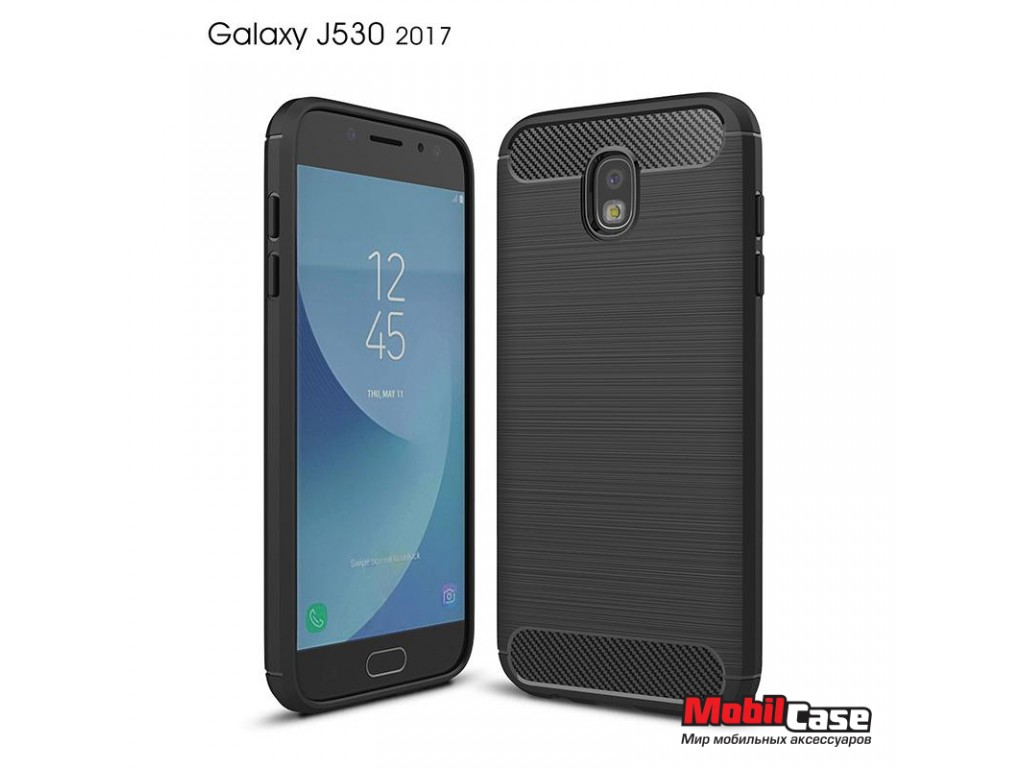 Бампер для Samsung J530 Galaxy J5 2017 Carbon