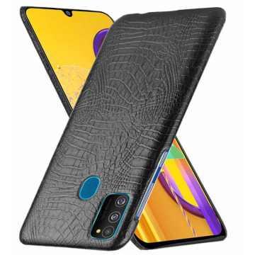 Кожаная накладка для Samsung Galaxy M30s (M307) Crocodile