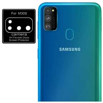 Стекло на камеру гибкое Samsung Galaxy M30s (M307) (Черное)
