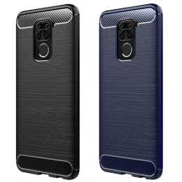 Бампер для Xiaomi Redmi Note 9 Carbon